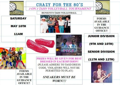 "Girls Volleyball to hold  ""Crazy for the 80's"" 3-on-3 v-ball tournament on May 10"