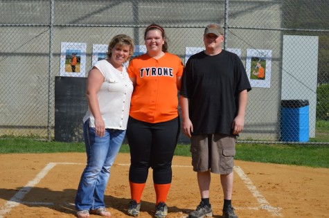 Tyrone softball celebrates senior night