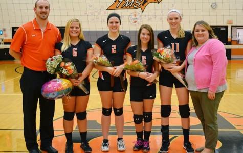 Photo Flash: varsity volleyball senior night