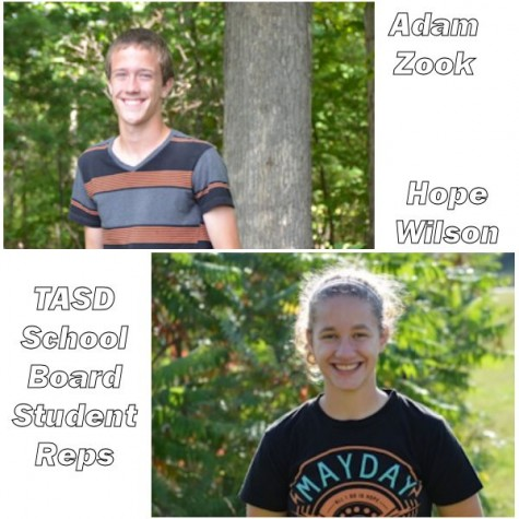 Zook, Wilson serve as student representatives on TASD school board