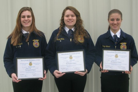 Tyrone FFA members receive Keystone Degrees and official jacket