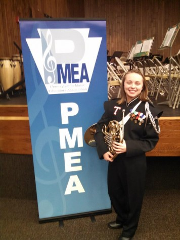 Senior Molly LaPorte caps her high school musical career at the Regional Band Competition
