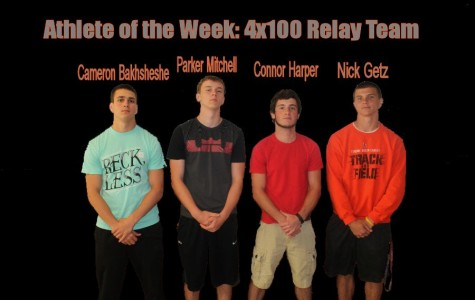 Athletes of the Week: Nick Getz, Cameron Bakhsheshe, Connor Harper, and Parker Mitchell (4×100 Meter Relay)