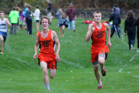 Adam Zook and Joe Kohler were a duel threat in XC - where the Eagles bested the Devils by only a point.