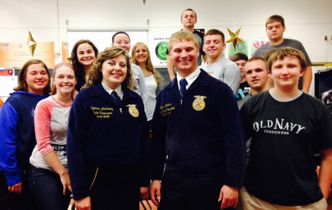 FFA State Officers visit Ag department