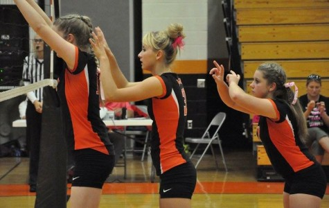 Pretty in pink: Lady Eagles volleyball defeats Clearfield 3-0