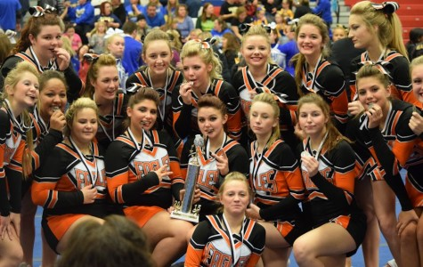 Cheer-LEADING at Richland: Eagles take second at opening competition