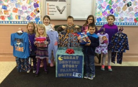 Tyrone Elementary School collects 290 pairs of pajamas for the Great Bedtime Story Pajama Drive