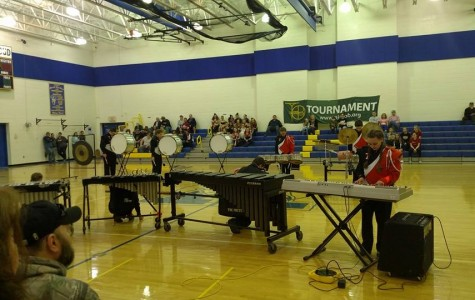Indoor Percussion Places 1st and Guard Places 4th at Glendale High School