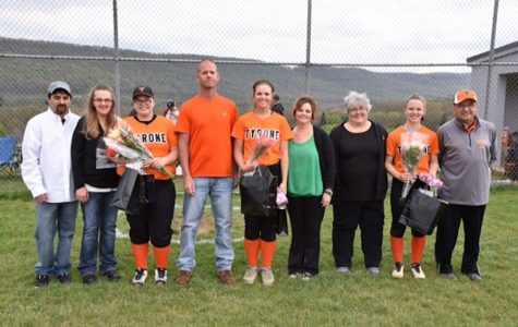 Lady Eagles Celebrate Senior Night and Fall to Lady Bison