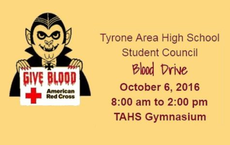 Donate Blood at TAHS on October 6!