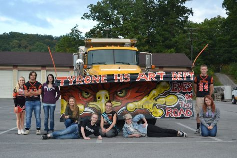 Photo of the Week: TAHS Art Department Paints PennDOT Plow