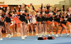 TAHS Cheerleaders Open Competition Season Sunday in Altoona