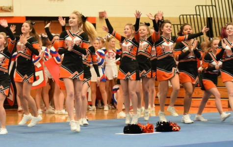 TAHS Cheerleaders Open Competition Season Sunday in Altoona
