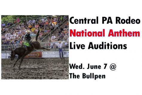 Open National Anthem Auditions for the Central PA Rodeo