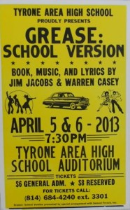 Spring Musical Grease Opens on April 5th