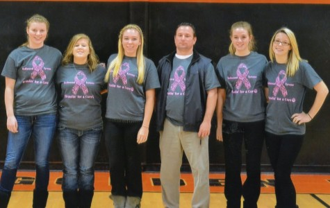 Varsity girls baskeball bids farewell to five seniors