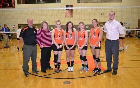 Photo Flash: Girls varsity volleyball senior night