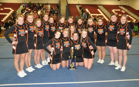 Tyrone Cheerleaders take third and prepare for their final competition on March 16