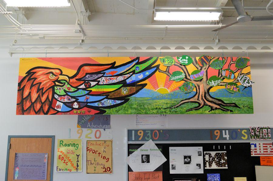 Alternative education class completes mural project for Education mural