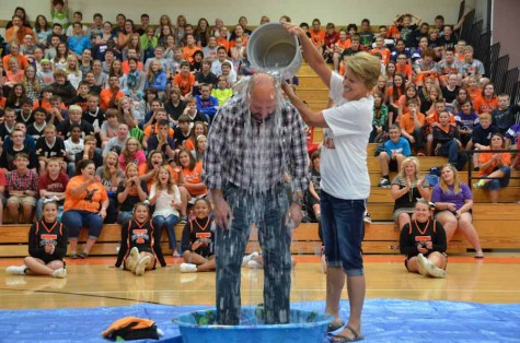 water being dumped on Mr. Yoder