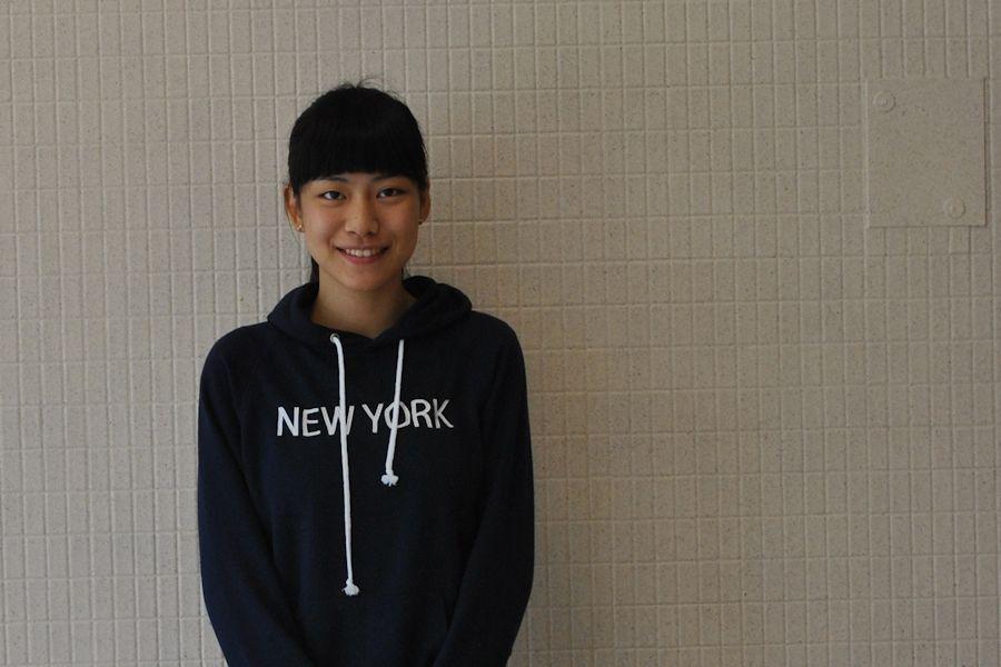 Exchange student Nao Fujishima from Hamamatsu City, Japan