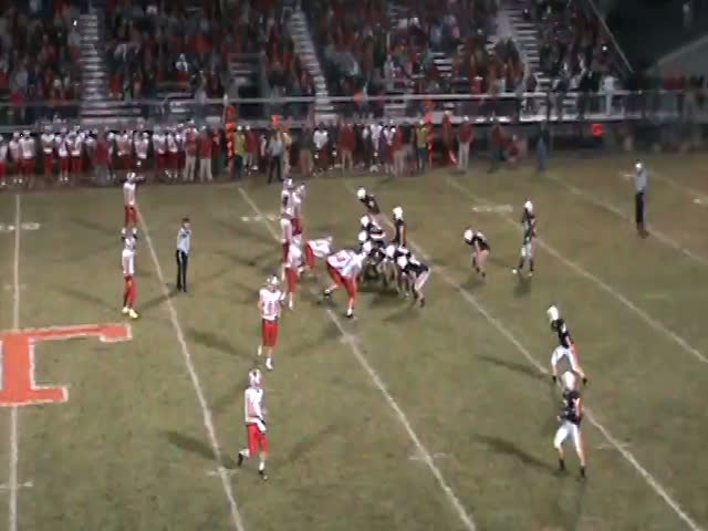 The Eagles line up for a play vs. Bellwood last week.