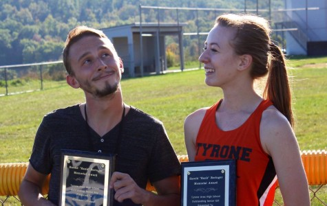 Stroud and McKernan honored at Cross Country senior night