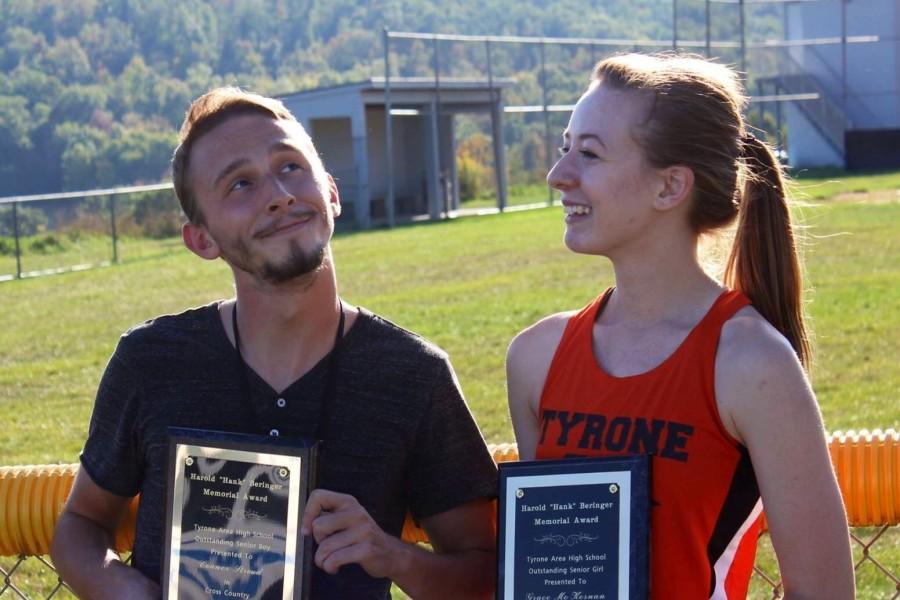 """Harold """"Hank"""" Beringer Memorial Award winners Grace Mckernan and Conner Stroud"""
