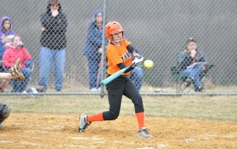Varsity softball loses 11-6 slugfest with Clearfield