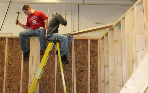 Photo slideshow: TAHS carpentry class house project
