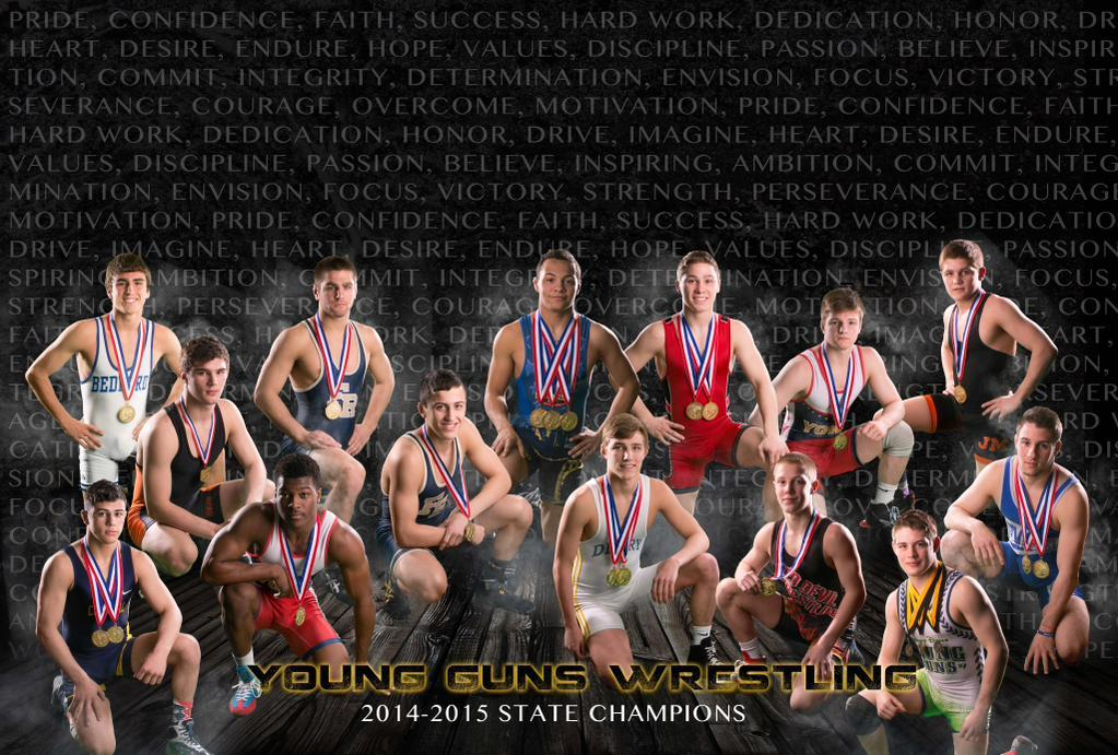 Many state champions, including PA PIAA state champions, have wrestled with the Young Guns team.