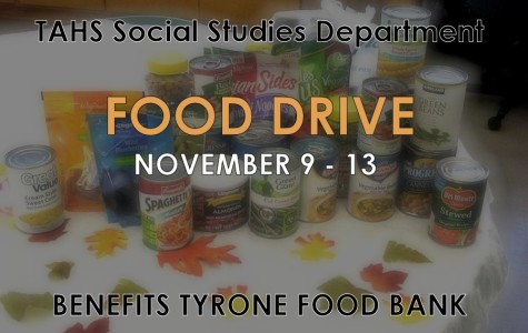 TAHS Food Drive to benefit Tyrone Food Bank from Nov. 9-13