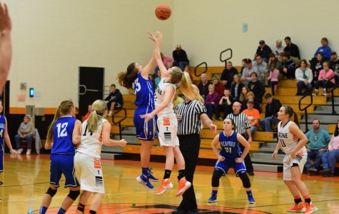 Lady Eagles soar over Bedford  59-38 in season opener