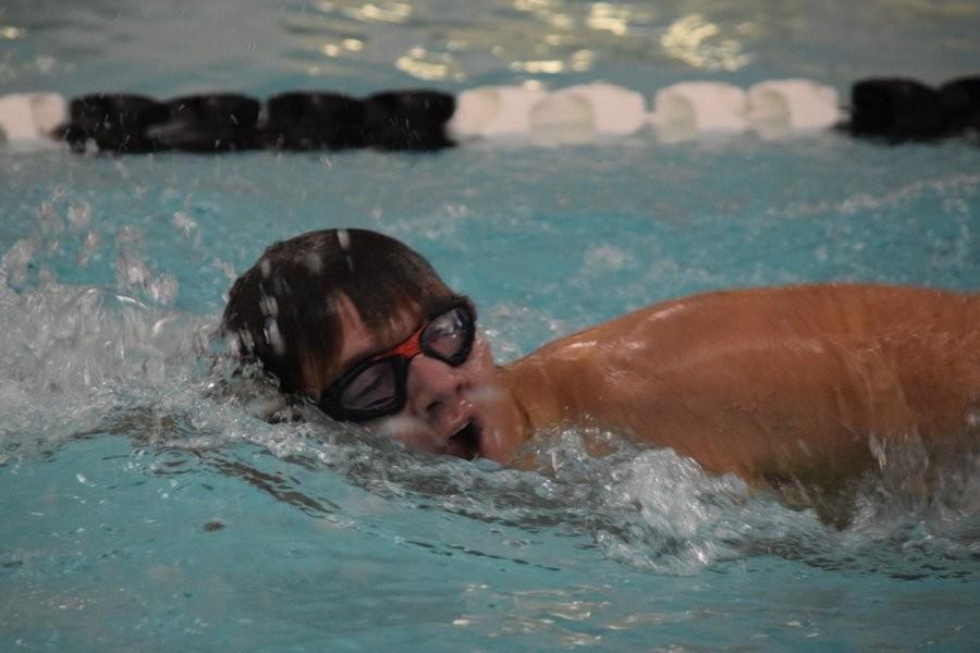 Blake Slobodnik won both the 200 and 500 freestyle events (file photo).