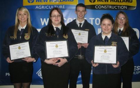 Tyrone High School FFA members recognized at PA Farm Show