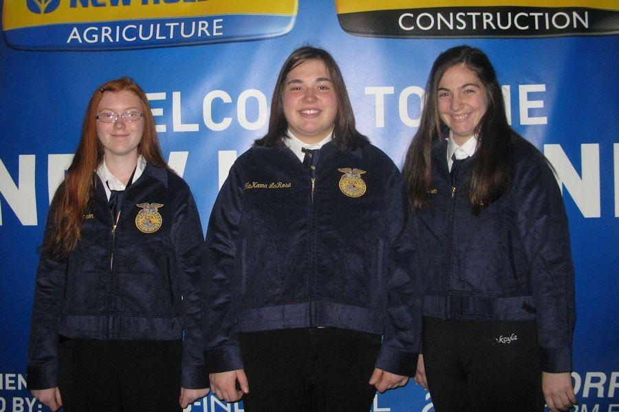 From left, Skyler Thompson, MaKenna LaRosa, and Sierra Robison.