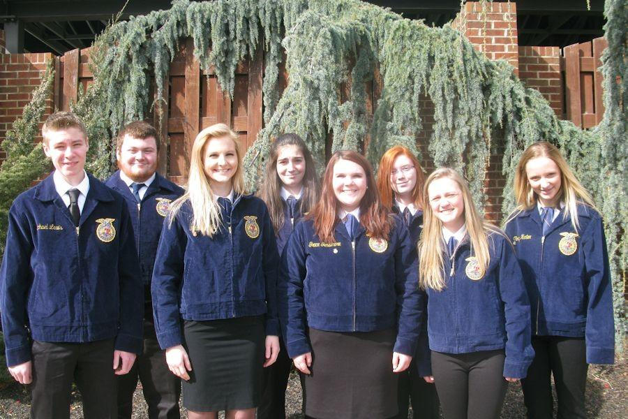 These students attended ACES on February 20-21, left to right: Zach Patterson, Daniel Peterson, Maddie Veit, Sierra Robison, Grace Gensimore, Skyler Thompson, Chloe Case and Taylor Pighetti.