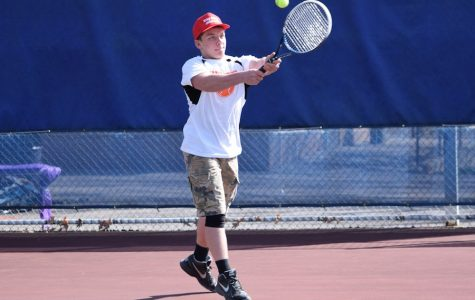 First Win Still Eludes Boys Tennis Team