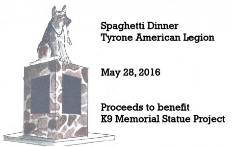 Tyrone Sophomore Raising Funds for K9 Memorial Statue