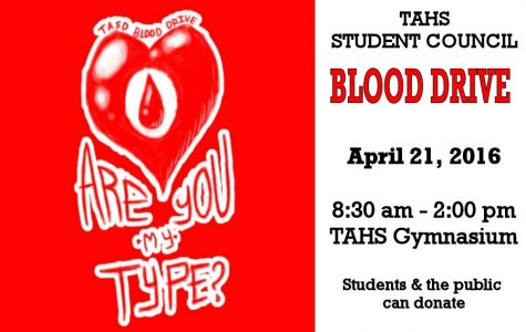 TAHS Student Council-Red Cross Blood Drive on April 21st