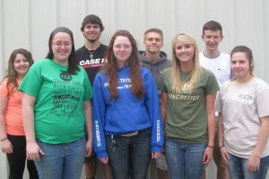 Agricultural Education students who took Production Agriculture NOCTI are: Baylee DelBaggio, Katrina Hagenbuch, Dakota Fink, Elizabeth Conrad, Larry Kobuck, Carly Crofcheck, Brandon Decker, and Alexis Brode.