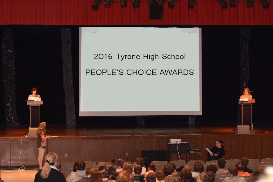 The Awards assembly is hosted by Mrs. Leah Deskovich and Mrs. Kathy Beigle