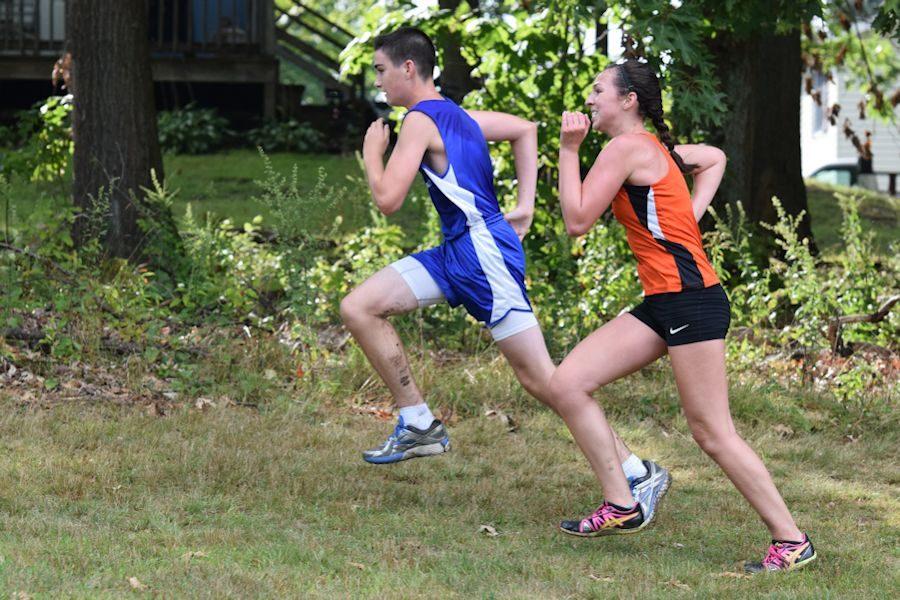 Senior+Sean+Dawson+fights+to+the+finish+against+a+West+Branch+runner.