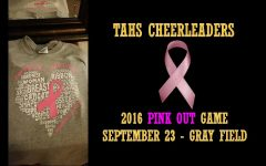 TAHS Cheerleaders Pink-Out Game on Friday