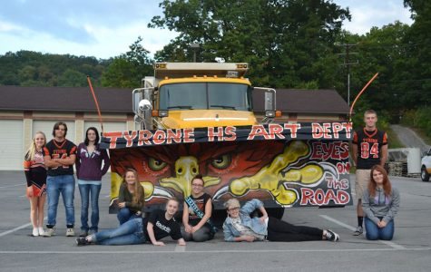 """Tyrone Art Department in PennDot """"Paint the Plow"""" Art Competition"""