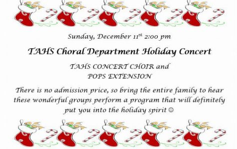 Tyrone High School Music Department to Present Three Holiday Choral Concerts