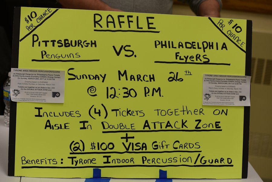 Tyrone Indoor Percussion to Raffle Pens-Flyers Tickets