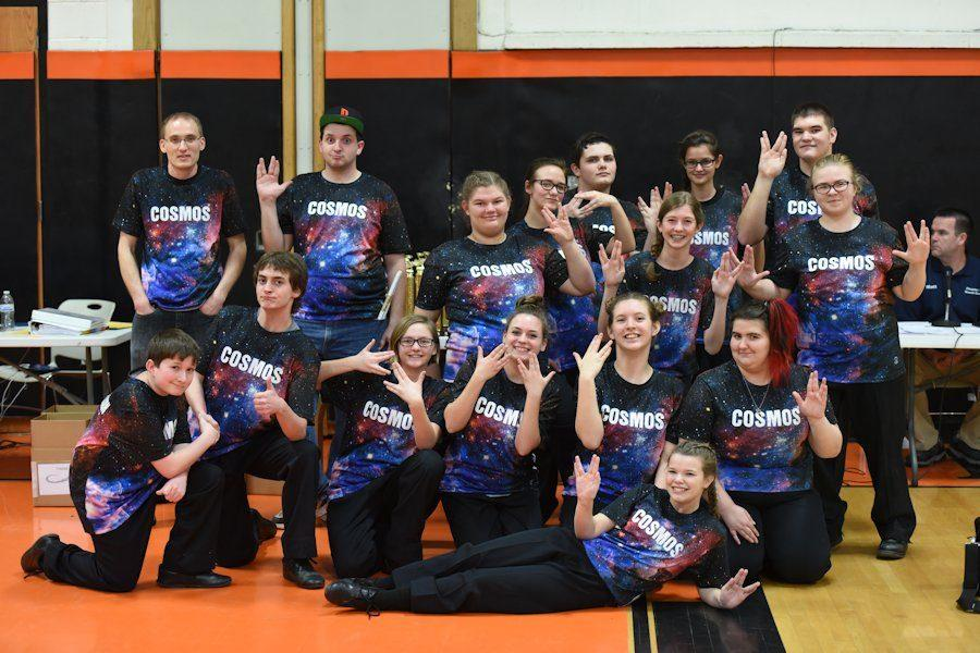 Last year's members of the Indoor percussion ensemble