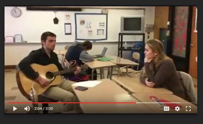 Eagle Eye Promposal Contest: Singing his Way to Prom